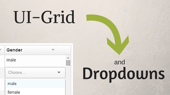 UI-Grid and Dropdowns