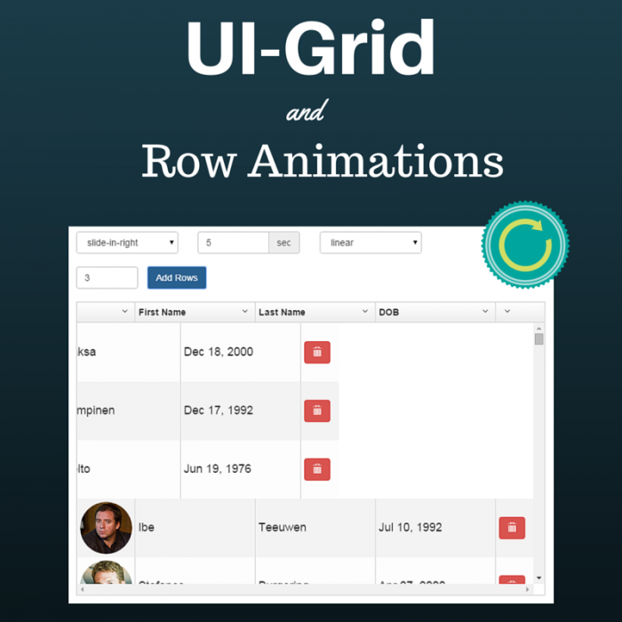 UI-Grid and Row Animations