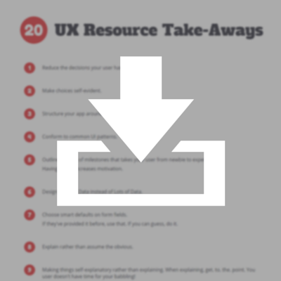 20 UX Resource Take-Aways PDF